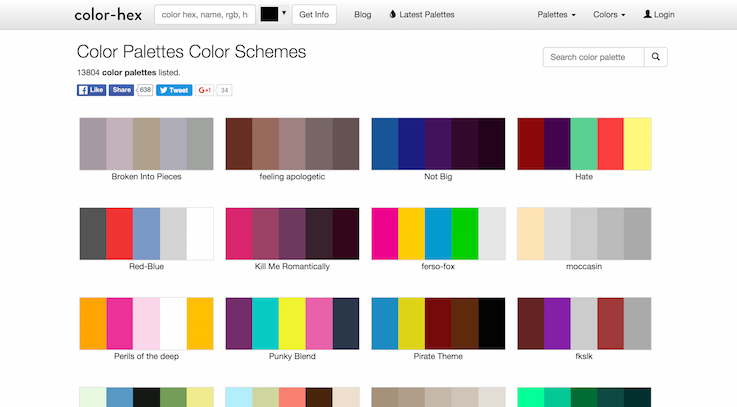 Color Palettes Color Schemes