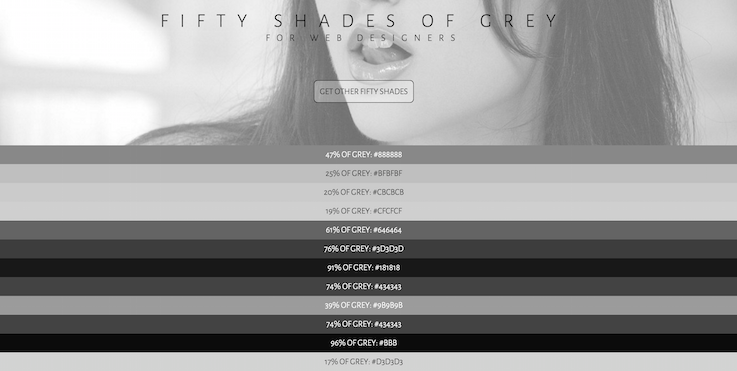 Fifty Shades Of Grey For Web Designers